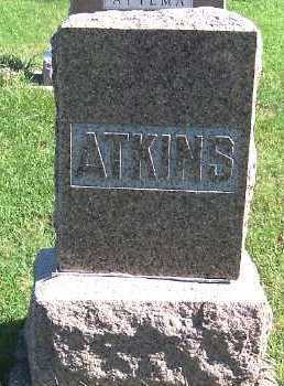 ATKINS, HEADSTONE - Sioux County, Iowa | HEADSTONE ATKINS