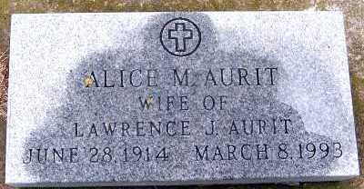 AURIT, ALICE M. (MRS. LAWRENCE) - Sioux County, Iowa   ALICE M. (MRS. LAWRENCE) AURIT