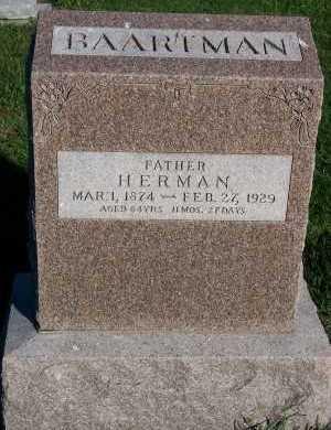 BAARTMAN, HERMAN - Sioux County, Iowa | HERMAN BAARTMAN