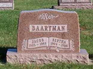 BAARTMAN, BERTHA - Sioux County, Iowa | BERTHA BAARTMAN