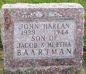 BAARTMAN, JOHN HARLAN - Sioux County, Iowa | JOHN HARLAN BAARTMAN