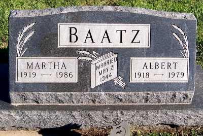 BAATZ, MARTHA - Sioux County, Iowa | MARTHA BAATZ
