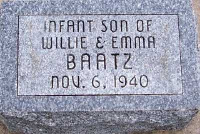 BAATZ, INFANT SON OF WILLIE & EMMA - Sioux County, Iowa | INFANT SON OF WILLIE & EMMA BAATZ