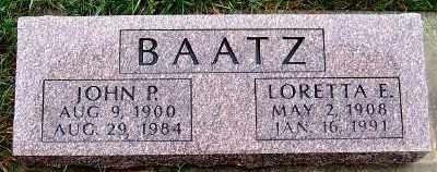 BAATZ, JOHN P. - Sioux County, Iowa   JOHN P. BAATZ