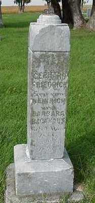 BACKHAUS, GERHARD FREDRICH - Sioux County, Iowa | GERHARD FREDRICH BACKHAUS