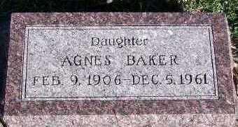 BAKER, AGNES - Sioux County, Iowa | AGNES BAKER