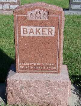 BAKER, HEADSTONE - Sioux County, Iowa | HEADSTONE BAKER