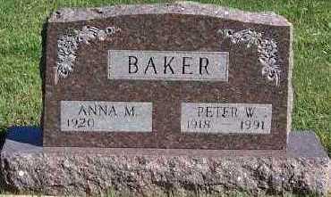 BAKER, PETER W. - Sioux County, Iowa | PETER W. BAKER