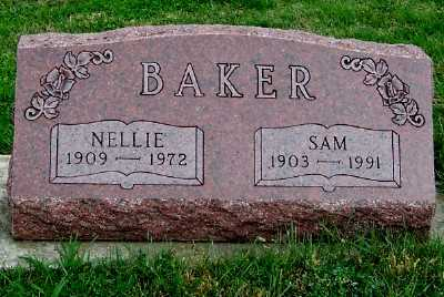 BAKER, NELLIE - Sioux County, Iowa | NELLIE BAKER