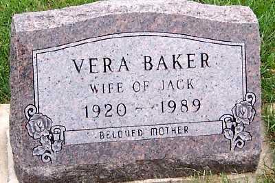 BAKER, VERA (MRS. JACK) - Sioux County, Iowa | VERA (MRS. JACK) BAKER