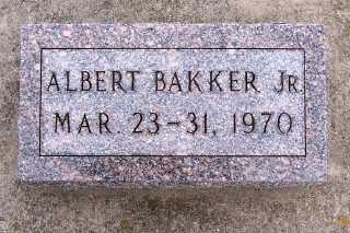 BAKKER, ALBERT JR. - Sioux County, Iowa | ALBERT JR. BAKKER