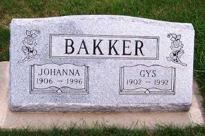 BAKKER, JOHANNA - Sioux County, Iowa | JOHANNA BAKKER