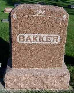 BAKKER, HEADSTONE - Sioux County, Iowa | HEADSTONE BAKKER