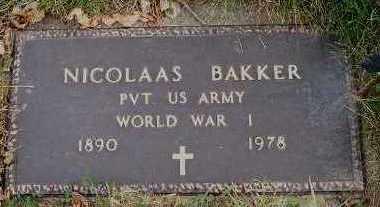 BAKKER, NICOLAAS - Sioux County, Iowa | NICOLAAS BAKKER