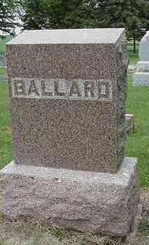 BALLARD, HEADSTONE - Sioux County, Iowa | HEADSTONE BALLARD