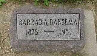BANSEMA, BARBARA - Sioux County, Iowa   BARBARA BANSEMA