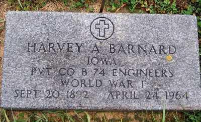 BARNARD, HARVEY A. - Sioux County, Iowa   HARVEY A. BARNARD