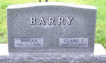 BARRY, CLAIRE T. - Sioux County, Iowa | CLAIRE T. BARRY