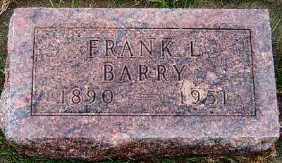 BARRY, FRANK L. - Sioux County, Iowa   FRANK L. BARRY