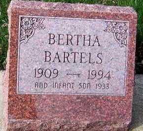BARTELS, BERTHA - Sioux County, Iowa   BERTHA BARTELS