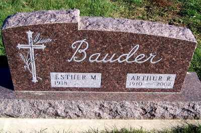 BAUDER, ARTHUR R. - Sioux County, Iowa   ARTHUR R. BAUDER