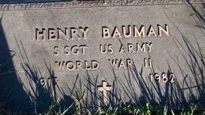 BAUMAN, HENRY - Sioux County, Iowa   HENRY BAUMAN