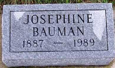 BAUMAN, JOSEPHINE - Sioux County, Iowa   JOSEPHINE BAUMAN