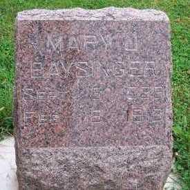 BAYSINGER, MARY J. - Sioux County, Iowa   MARY J. BAYSINGER