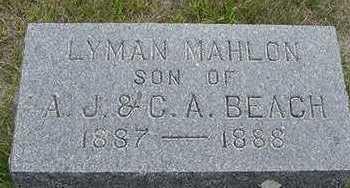 BEACH, LYMAN MAHLON - Sioux County, Iowa | LYMAN MAHLON BEACH