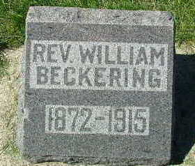 BECKERING, WILLIAM REV. - Sioux County, Iowa | WILLIAM REV. BECKERING