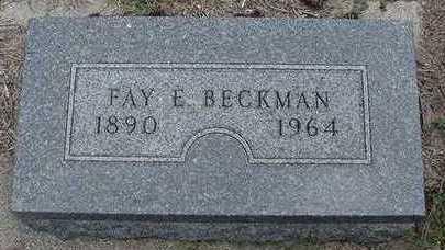 BECKMAN, FAY E. - Sioux County, Iowa | FAY E. BECKMAN
