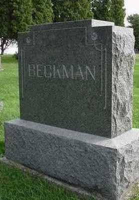 BECKMAN, HEADSTONE - Sioux County, Iowa | HEADSTONE BECKMAN