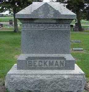 BECKMAN, HEADSTONE - Sioux County, Iowa   HEADSTONE BECKMAN