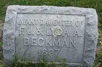 BECKMAN, INFANT DAU. - Sioux County, Iowa | INFANT DAU. BECKMAN