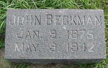BECKMAN, JOHN - Sioux County, Iowa | JOHN BECKMAN