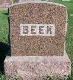 BEEK, HEADSTONE - Sioux County, Iowa | HEADSTONE BEEK