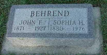 BEHREND, SOPHIA H. (MRS. JOHN F.) - Sioux County, Iowa | SOPHIA H. (MRS. JOHN F.) BEHREND
