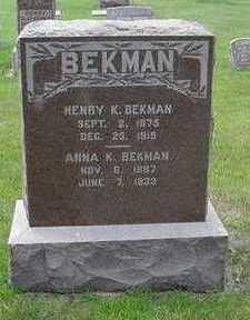 BEKMAN, ANNA K. - Sioux County, Iowa | ANNA K. BEKMAN