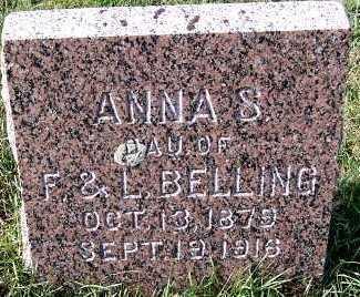 BELLING, ANNA (DAU OF F. & L. ) - Sioux County, Iowa | ANNA (DAU OF F. & L. ) BELLING