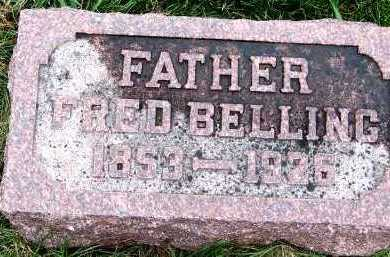 BELLING, FRED (1853-1926) - Sioux County, Iowa   FRED (1853-1926) BELLING