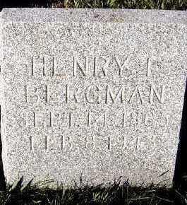 BERGMAN, HENRY F. - Sioux County, Iowa | HENRY F. BERGMAN