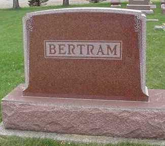 BERTRAM, HEADSTONE - Sioux County, Iowa | HEADSTONE BERTRAM