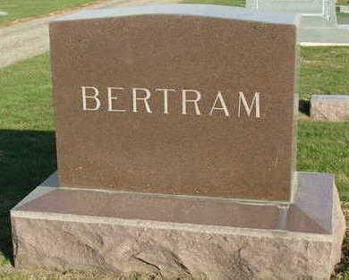 BERTRAM, HEADSTONE - Sioux County, Iowa   HEADSTONE BERTRAM