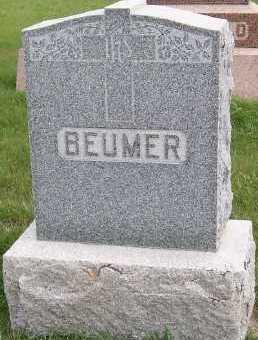 BEUMER, HEADSTONE - Sioux County, Iowa | HEADSTONE BEUMER