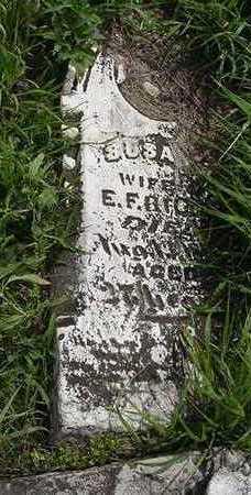 BILLS, SUSAN, WIFE OF E. F. - Sioux County, Iowa | SUSAN, WIFE OF E. F. BILLS