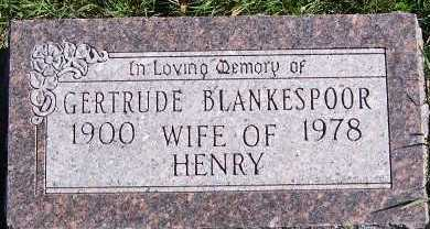 BLANKESPOOR, GERTRUDE (MRS. HENRY) - Sioux County, Iowa | GERTRUDE (MRS. HENRY) BLANKESPOOR