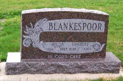 BLANKESPOOR, GYSBERT - Sioux County, Iowa | GYSBERT BLANKESPOOR