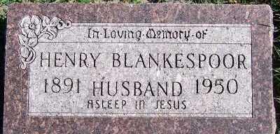 BLANKESPOOR, HENRY - Sioux County, Iowa   HENRY BLANKESPOOR