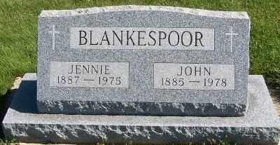 BLANKESPOOR, JENNIE - Sioux County, Iowa | JENNIE BLANKESPOOR