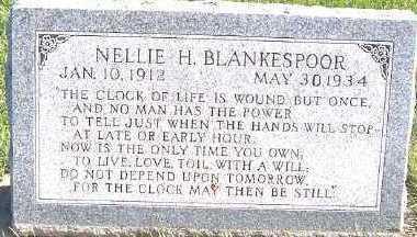 BLANKESPOOR, NELLIE H. - Sioux County, Iowa   NELLIE H. BLANKESPOOR